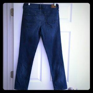 AE super stretch straight jeans sz 8